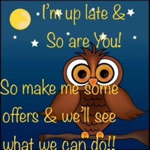 🌙⭐️ MAKE ME SOME OFFERS NIGHT OWLS!!⭐️🌙